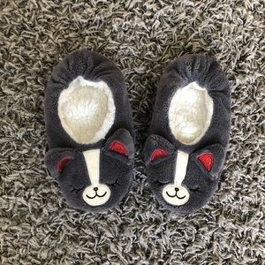 Justice Gray Mouse House Shoes - Girls Size 5/6